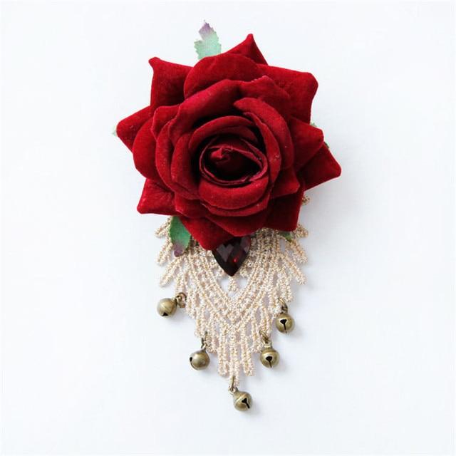 Ben noto Vintage Nuova Donna Spille Grande Fiore In Tessuto Rosa di Pizzo  CL06