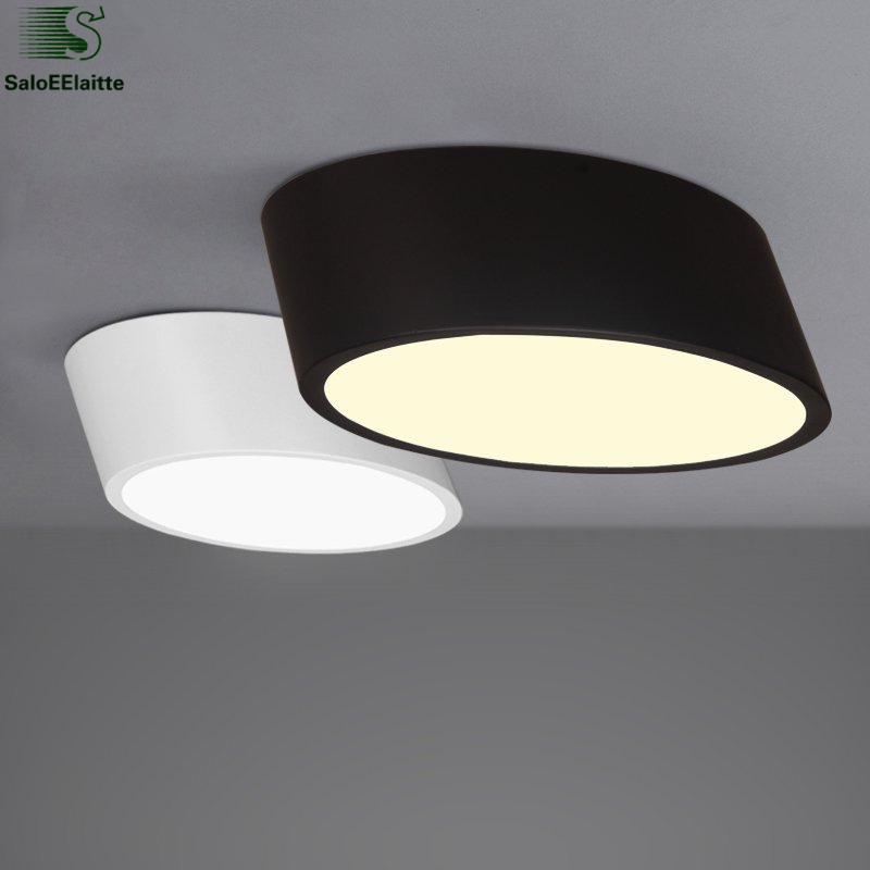 Modern Minimalism Dimmable Led Metal Ceiling Lamp Matt Black White PMMA Acrylic Mask Ceiling Lamp For Corridor Bedroom modern metal led dimmable white black square lamp for bedroom corridor living room ceiling lamp
