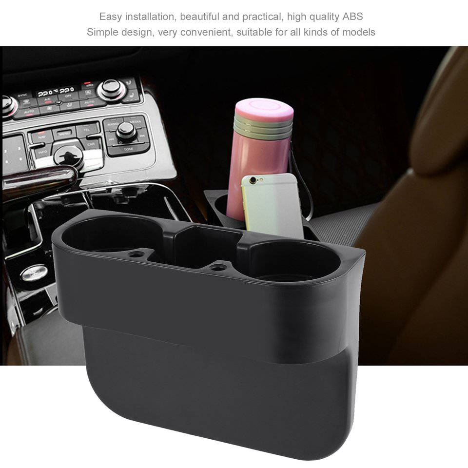 Universal Auto Truck Car Seat Drink Holder Rubbish Case Bin Valet Beverage Can Bottle Food Mount Stand Storage Box ...