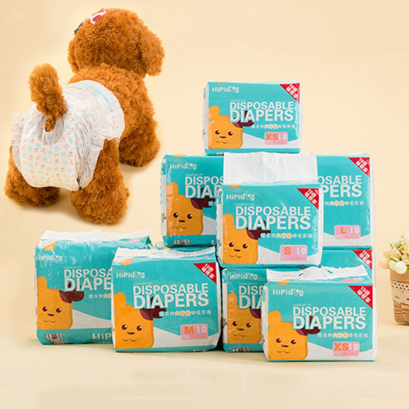 Popular Sale 10PCS/Bag Pet Diapers Female Dog Disposable Leakproof Nappies Puppy Super Absorption Physiological Pants