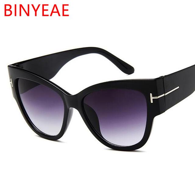 Gafas de sol grandes con forma de ojo de gato para mujer