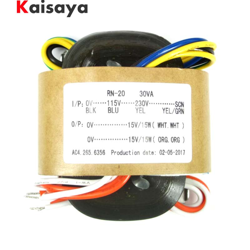 New 115V/230V 30W high quality Audio R-Core Transformer 0-115V-230V 30W 15V+15V for hifi amplifier