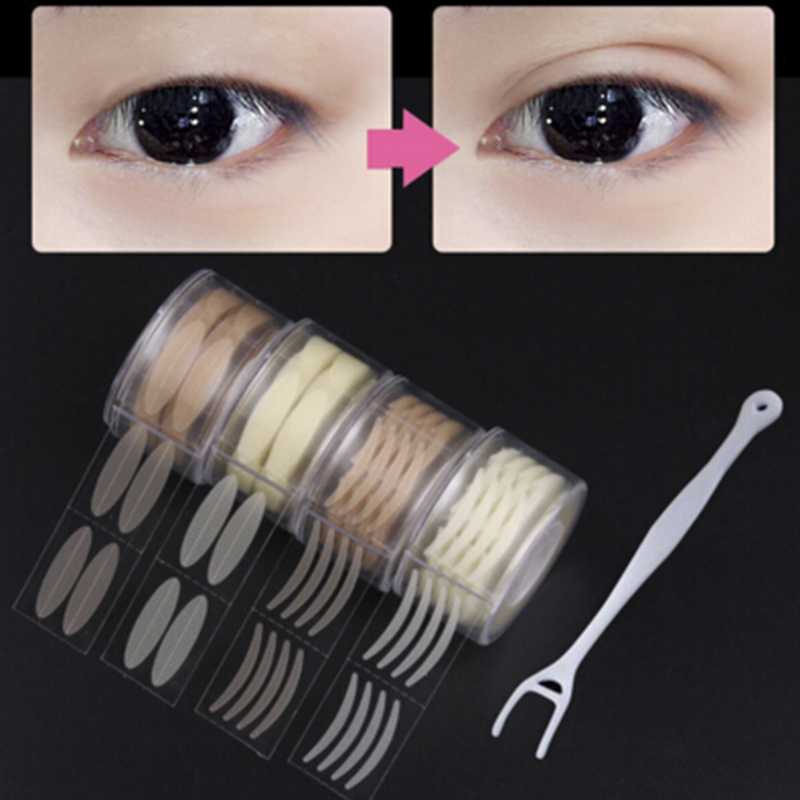 600pcs Eyelid Tape Sticker Invisible Double Fold Eyelid Paste Clear Beige Stripe Self-adhesive Natural Eye Tape Makeup Tools S/L