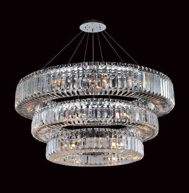 Round 3 tier chandelier crystals for chandelierscontemporary round 3 tier chandelier crystals for chandelierscontemporary dining room chandelier lampd9252 aloadofball Image collections