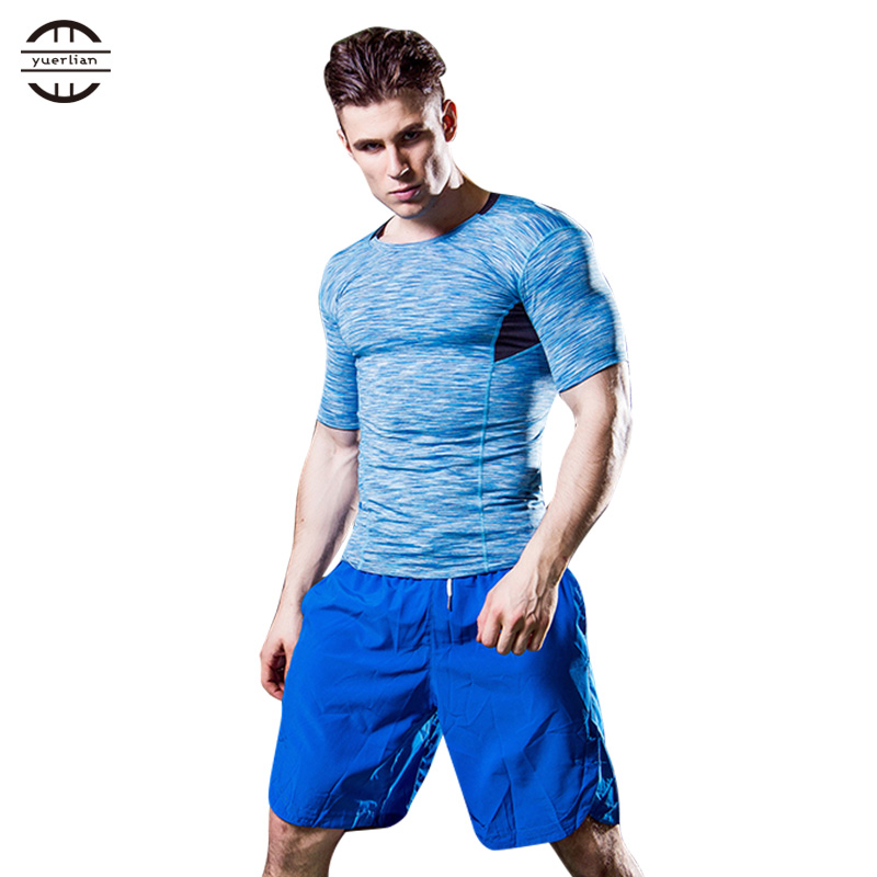 Yuerlian Quick Dry Blue Jays Jersey Tights Fitness Basketball Tennis Men Shirt Gym Sport Suit Running Men's Short Sleeve T-Shirt