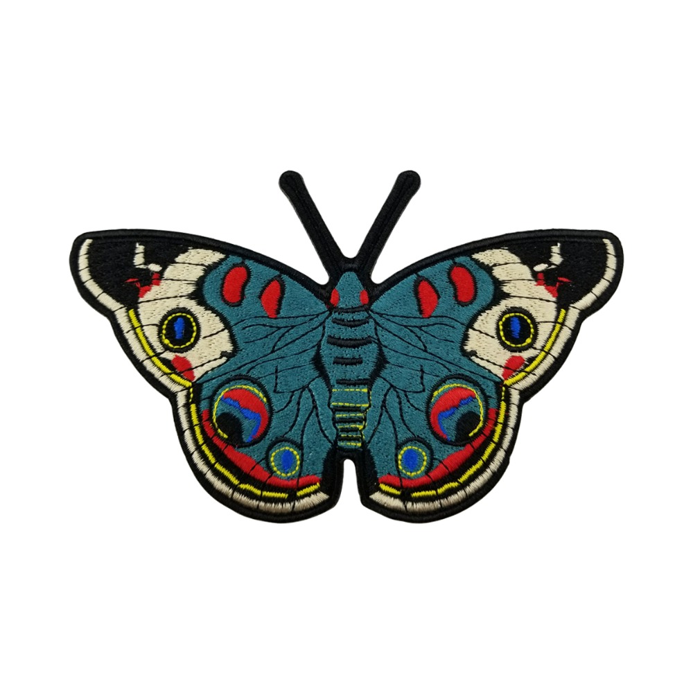 Diy Handmade Embroidered Patch: Butterflies Cartoons Beautiful Patches Embroidered Iron On