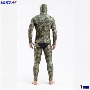 Image 3 - Erkekler profesyonel 5mm 7mm tayvan YAMAMOTO neopren Spearfishing takım elbise mevcut kapşonlu mühürlü iki parçalı dalış kuru Wetsuits