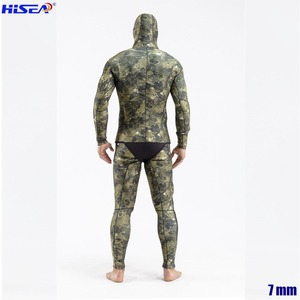 Image 3 - Men Professional 5mm 7mm for Taiwan YAMAMOTO Neoprene Spearfishing Suits Available Hooded Sealed two piece Diving Dry Wetsuits