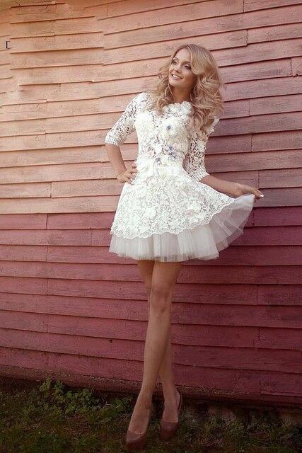 Vestido blanco corto elegante para nina