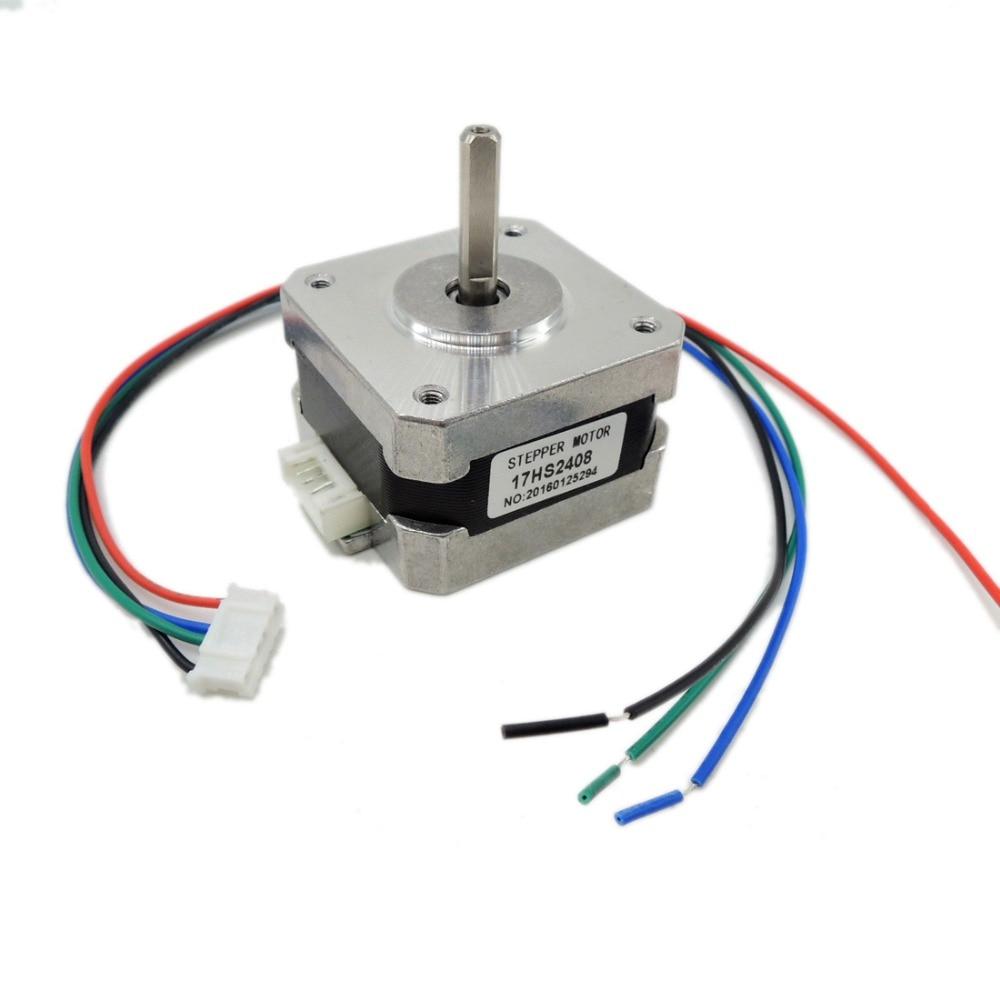 5pcs/lot 17HS2408 4-lead Nema 17 Stepper Motor 42 motor 42BYGH 0.6A CECNC Laser and 3D printer motor