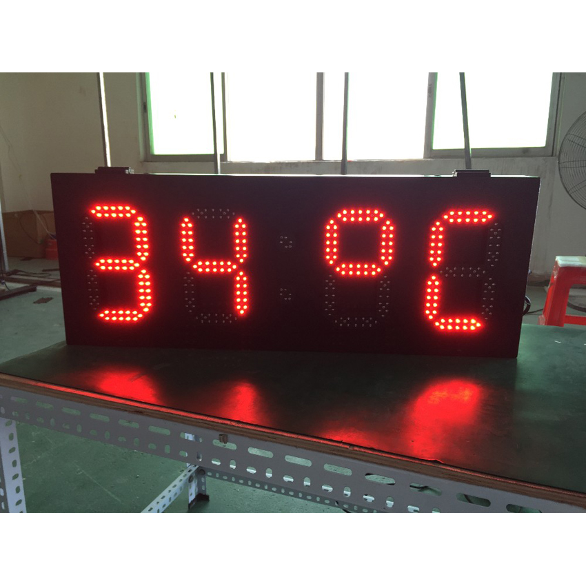 Outdoor P8 800x305mm LED Time Screen 6'' 8'' 10'' 12'' 15'' High Brightness LED Lamp Led Display For LED Temperature Screen