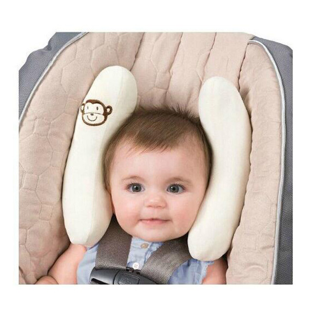 Baby Car Pillows Soft Infant Car Seat Head & Neck Protection Pillow Bebes Toddler Adjustable Head Support Baby Pillows Stroller