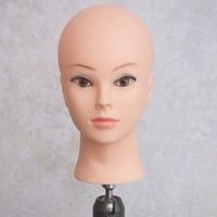Enchufe de fábrica Mejor Calidad PVC Suave Maquillaje Cabeza de Maniquí Práctica Cosmetología Mannequin head Training Maniquí Cabeza Femenina