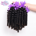 Indian Virgin Hair 3Pcs/lot Afro kinky curly hair 7A Grade Indian curly virgin hair bundles curly weave human hair extensions