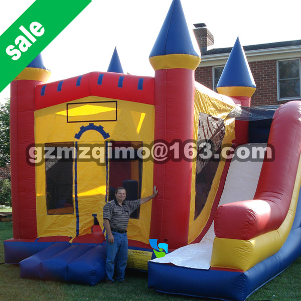 Family Use Inflatable Bouncy Calstle Combo Water Slide Pool,Inflatable Bouncer for Kids,Jumping Castle with Air Blower popular best quality large inflatable water slide with pool for kids