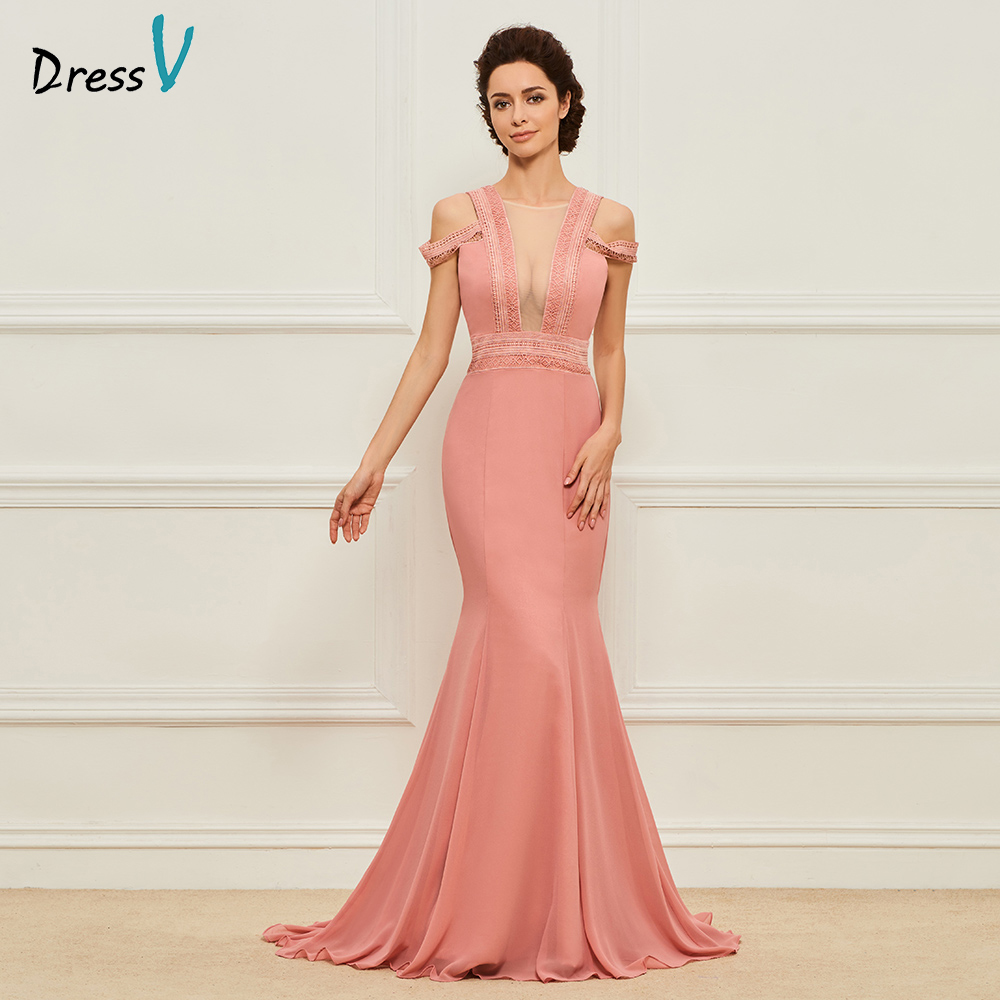 Dressv cameo long mother of the bride sweep train floor length cap sleeves lace backless formal party mother of the bride dress