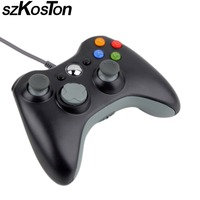 1pc USB Wired Joypad Gamepad For Microsoft Xbox 360 Console Wired Controller Black White Red Blue