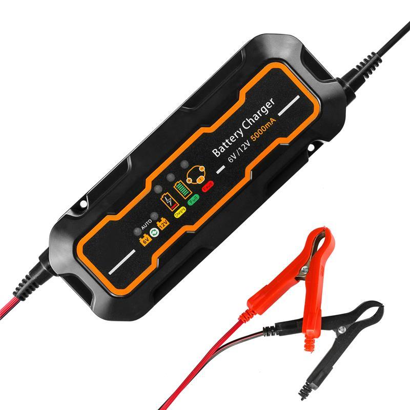 Mr Cartool салона автомобиля Батарея Зарядное устройство 12 В/6 В 5A Портативный Батарея Быстрый Зарядное устройство для Авто Мото свинцово-кислот...