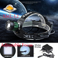 3 mode XML L2 2400Lm Waterproof Zoom LED  Headlight Headlamp Head Lamp Light Zoomable Adjust Focus+Charger