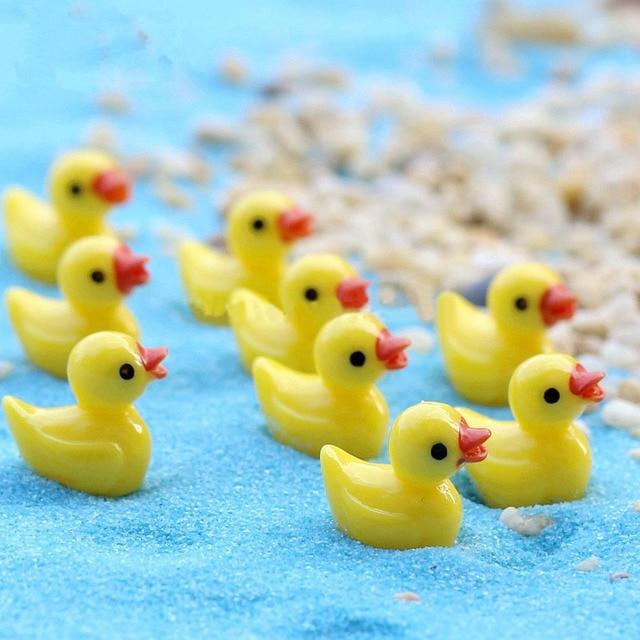 wholesale 100pcs lot resin crafts decorations miniature duck