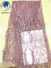 Beautifical wholesale african lace fabric for wedding nigerian fabrics party latest design ML1N793