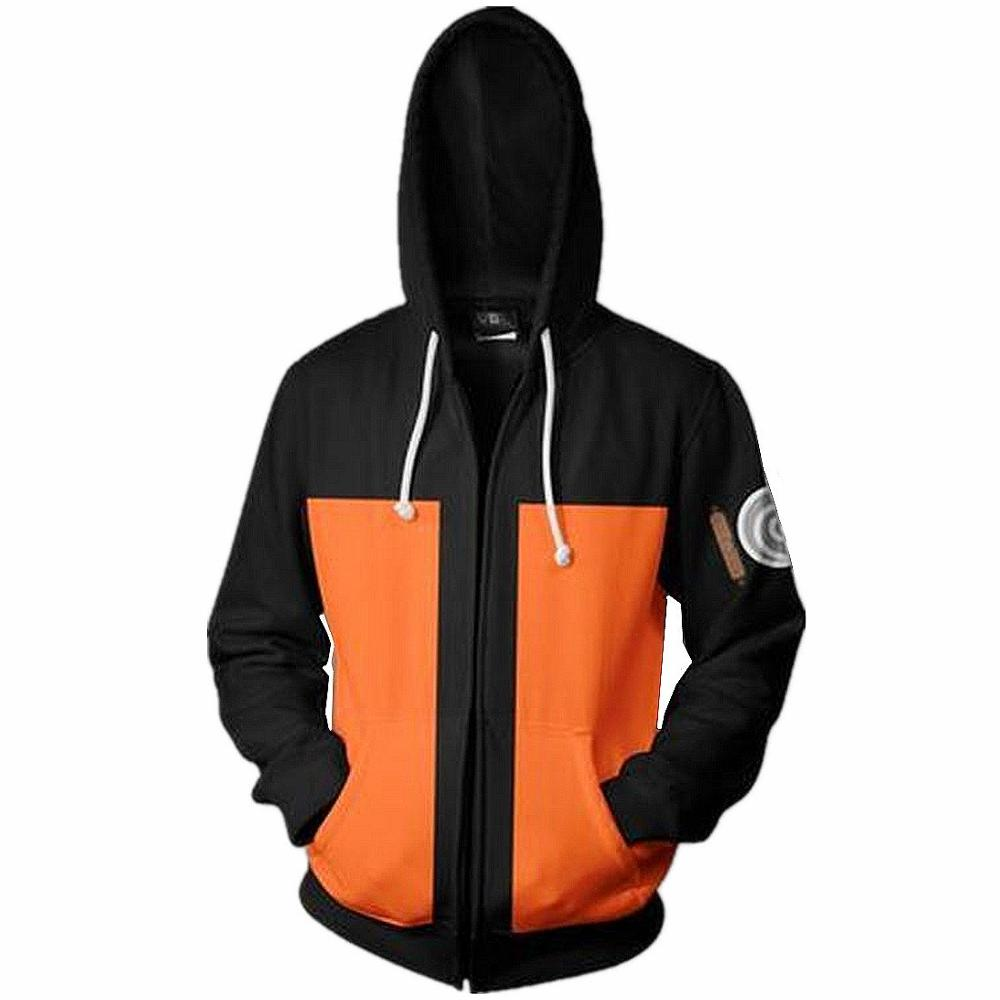 Sweatshirt Hoodies Tracksuit Naruto Streetwear Zipper Printed Anime Men Fashion Cosplay