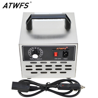 ATWFS Car Ozone Generator 12v Power Supply Car Ozonator Air Cleaner 5g Ozonizer Remove Smell Sterilizer with Timing Switch