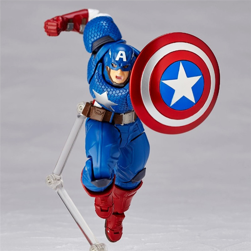 Free Shipping 7 Marvel Hero The Avengers America Captain Moveable Boxed 17cm PVC Action Figure Collection Model Doll Toys Gift