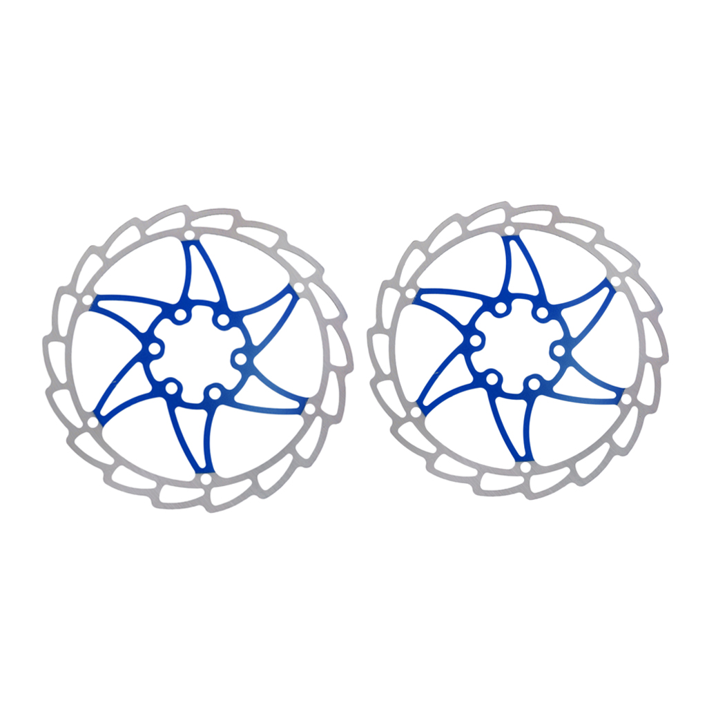 Include Bolts Tektro MTB Stainless Disc Brake Rotor 6 Bolts 160mm Blue 1pcs
