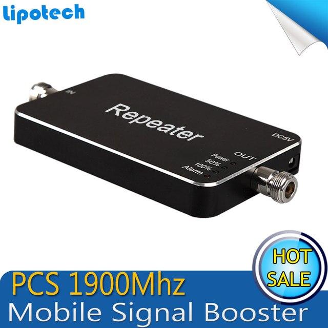 El mejor Precio! Mini Smart PC 1900 MHz 3G Repetidor PCS 1900 Mhz 65dB de Ganancia Amplificador de Señal de Teléfono Móvil Repetidor de Señal Del Amplificador
