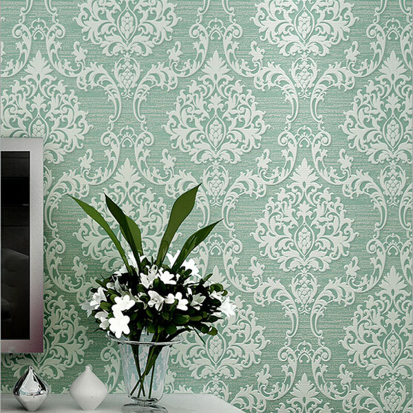 Luxury Europe Damascus 3d Stereo Embossed Wallpaper Home Decor Ecofriendly Bedroom Wallpapers Non Woven Mural