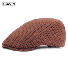 SILOQIN Men Women Quality Cotton Berets Adjustable Winter Thicken Keep Warm Middle Old Aged Tongue Cap Leisure Tourism Gorras electric moxa knee pads autumn and winter to keep warm old cold legs men women moxibustion joint inflammation middle aged