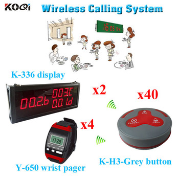 restaurants fast food call system with CE certification 433mhz  wireless call button waiter