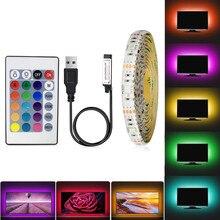 5V RGB LED Strip USB 5 V Led Strip Light TV Backlight 3528 1 - 5 M Lighting Desktop 5V Led Strip Lights Lamp Tape Diode Ribbon
