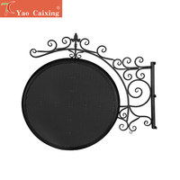 Aliexpress diy outdoor SMD matrix logo circular screen double side full color shop store led cabinet display