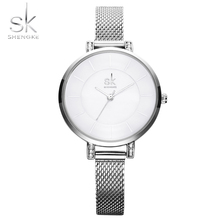 Shengke Original Bracelet Watches for Lady Fashion Dress Gold Charming Chain Style Luxury Quartz Women Watch Female Montre Femme