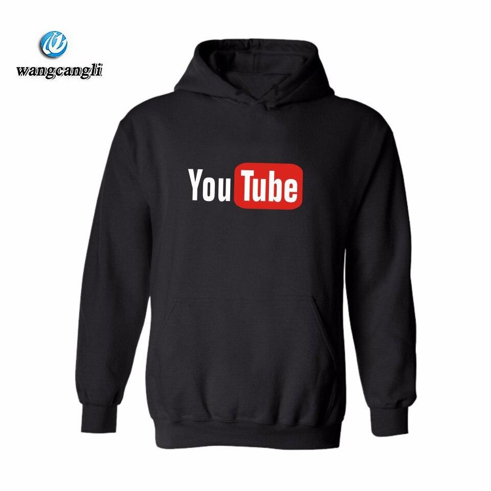 2018 последние Youtube Дизайн модная толстовка с капюшоном хлопок Youtube Для мужчин/Для женщин толстовки Sudaderas хомбре брендовая одежда куртка