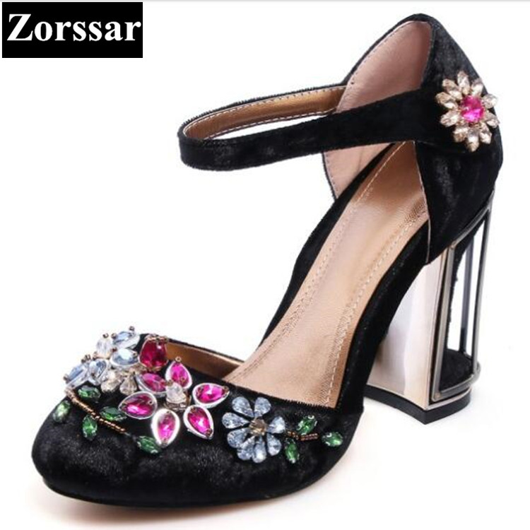 Summer shoes woman sandals rhinestone high heels wedding shoes for women shoes 2017 New Fashion velvet womens pumps heels 2017 free shipping siketu spring and autumn women shoes fashion high heels shoes wedding shoes pumps g174 summer sandals