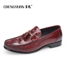 Mens Leather loafers casual flats shoes summer size 2017 for men flat Business Casual Round Leather man wedding Shoes ST61071