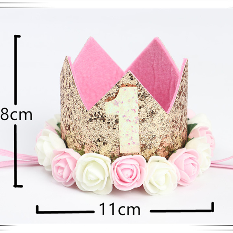 Baby Girl Birthday Party Hats I Am One Caps First Birthday Princess Crown Number 1st 2 3 Year Old Hat baby shower Kids Favors in Party DIY Decorations from Home Garden