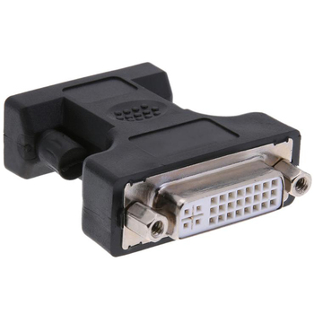 Alloyseed 24+5Pin DVI Female to 15Pin VGA Male Cable Extender Adapter Connector for connecting HDTV CRT Monitor Projector image