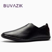 Comparar Nuevo 2018 mocasines de cuero genuino para hombre mocasines zapatillas de goma natural único mocasín para manejar puntiagudos moda envío gratis