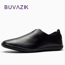 new 2018 genuine leather loafers mens moccasin slippers natural rubber sole driving loafer pointed toe fashion free shipping