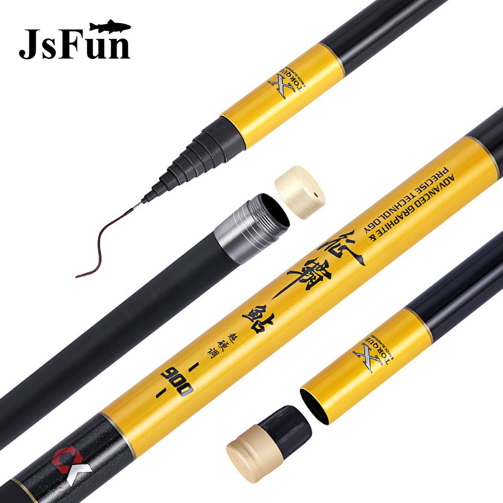 8M 9M 10M 11M 12M Ultra Long Hard Stream Pole Hand Rod Telescopic Carbon Fiber Carp Fishing Rods Winter Fishing Olta Tackle L163 high quality stream pole fishing rod long fishing pole 8 9 10 11 12m carbon material ultra light hand pole fishing tackle