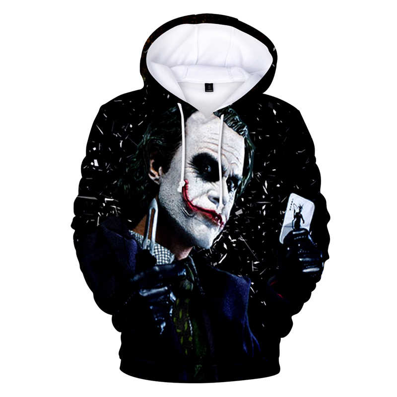 Fashion Mens Womens The Joker 3D Print Hoodies Casual Pullover Sweatshirts Tops