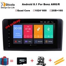 9 «ips 4 ядра 2 din Android 8,1 dvd-плеер автомобиля gps стерео радио для Mercedes Benz R Class W251 R280 R300 R320 R350 с Wi-Fi