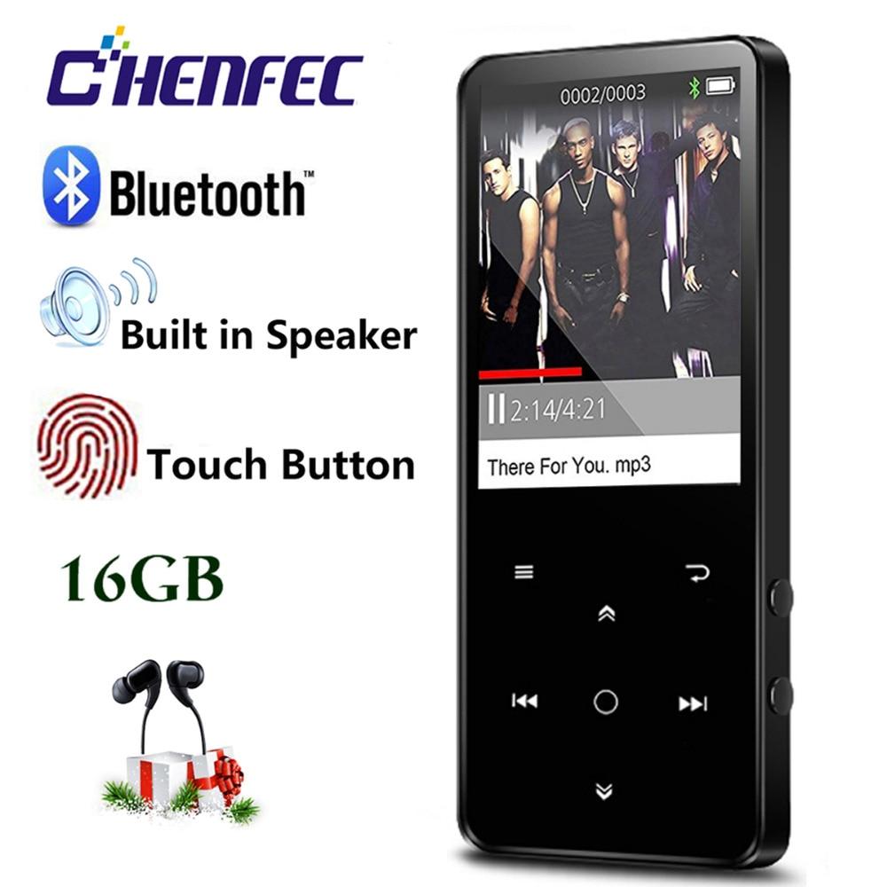 Nouveau HiFI MP3 Lecteur avec Bluetooth Haut-Parleur Intégré 16g Sans Perte Son Mp3 Musique Lecteur 2.4in HD Écran Tactile Touches FM Radio