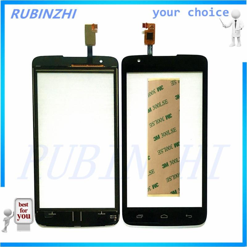 RUBINZHI Phone Touchscreen Sensor For Micromax Q383 Touch Screen Digitizer Lens Front Glass Touch Panel Replaement +3M sticker