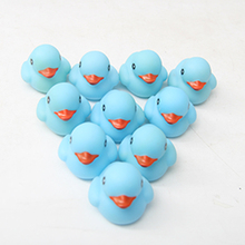 10pcs Lot Baby Bath Toys Pool Float Rubber Duck For Children Water Swimming