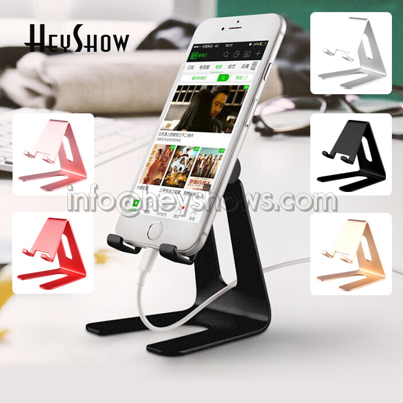 Aluminium Alloy Mobile Phone Stand Metal Tablet Holder Cell Phone Desk Stand Display Support For Apple,Xiaomi,Huawei,Samsung universal mobile phone cell phone holder stand black